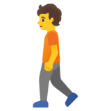 Person Walking on Google Android 11.0