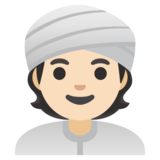 Person Wearing Turban: Light Skin Tone on Google Android 11.0