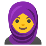 Woman with Headscarf on Google Android 11.0