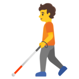 Person with White Cane on Google Android 11.0