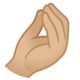 Pinched Fingers: Medium-Light Skin Tone on Google Android 11.0