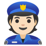 Police Officer: Light Skin Tone on Google Android 11.0