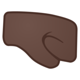 Right-Facing Fist: Dark Skin Tone on Google Android 11.0