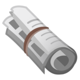 Rolled-Up Newspaper on Google Android 11.0