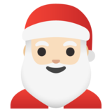 Santa Claus: Light Skin Tone on Google Android 11.0