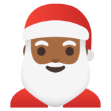 Santa Claus: Medium-Dark Skin Tone on Google Android 11.0