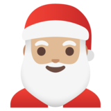 Santa Claus: Medium-Light Skin Tone on Google Android 11.0