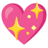 Sparkling Heart on Google Android 11.0
