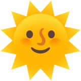 Sun with Face on Google Android 11.0