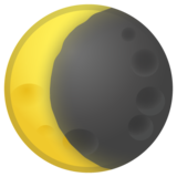 Waning Crescent Moon on Google Android 11.0