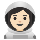 Woman Astronaut: Light Skin Tone on Google Android 11.0