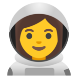 Woman Astronaut on Google Android 11.0