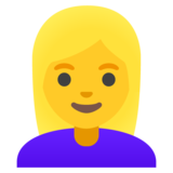 Woman: Blond Hair on Google Android 11.0