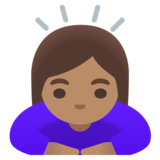 Woman Bowing: Medium Skin Tone on Google Android 11.0