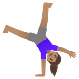 Woman Cartwheeling: Medium Skin Tone on Google Android 11.0