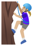 Woman Climbing: Medium-Light Skin Tone on Google Android 11.0