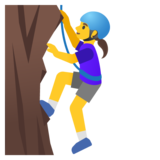 Woman Climbing on Google Android 11.0