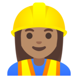 Woman Construction Worker: Medium Skin Tone on Google Android 11.0