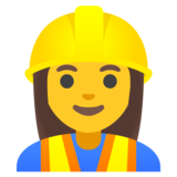 Woman Construction Worker on Google Android 11.0