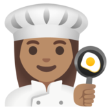 Woman Cook: Medium Skin Tone on Google Android 11.0