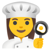 Woman Cook on Google Android 11.0