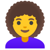 Woman: Curly Hair on Google Android 11.0