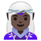 Woman Elf: Dark Skin Tone on Google Android 11.0