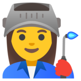 Woman Factory Worker on Google Android 11.0