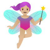 Woman Fairy: Medium-Light Skin Tone on Google Android 11.0