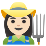 Woman Farmer: Light Skin Tone on Google Android 11.0