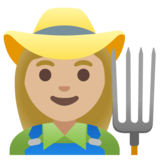 Woman Farmer: Medium-Light Skin Tone on Google Android 11.0