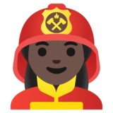 Woman Firefighter: Dark Skin Tone on Google Android 11.0