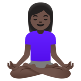 Woman in Lotus Position: Dark Skin Tone on Google Android 11.0