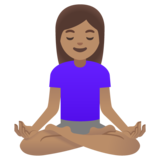 Woman in Lotus Position: Medium Skin Tone on Google Android 11.0
