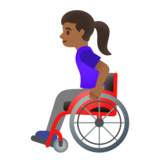 Woman in Manual Wheelchair: Medium-Dark Skin Tone on Google Android 11.0