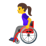 Woman in Manual Wheelchair on Google Android 11.0