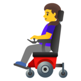 Woman in Motorized Wheelchair on Google Android 11.0