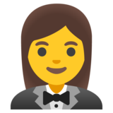 Woman in Tuxedo on Google Android 11.0