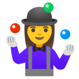 Woman Juggling on Google Android 11.0