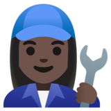 Woman Mechanic: Dark Skin Tone on Google Android 11.0