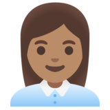Woman Office Worker: Medium Skin Tone on Google Android 11.0