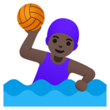 Woman Playing Water Polo: Dark Skin Tone on Google Android 11.0