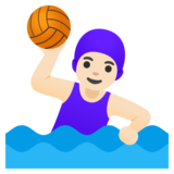 Woman Playing Water Polo: Light Skin Tone on Google Android 11.0