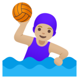 Woman Playing Water Polo: Medium-Light Skin Tone on Google Android 11.0
