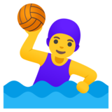 Woman Playing Water Polo on Google Android 11.0