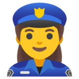 Woman Police Officer on Google Android 11.0