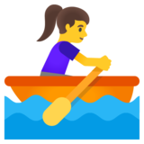 Woman Rowing Boat on Google Android 11.0