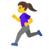 Woman Running on Google Android 11.0