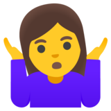 Woman Shrugging on Google Android 11.0