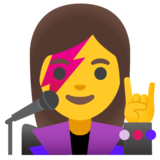 Woman Singer on Google Android 11.0